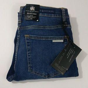 NWT Rock & Republic skinny jeans women size 8M